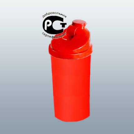 Шейкер SportsFood SF - 700-11 красный стакан/красная крышка/красный клапан