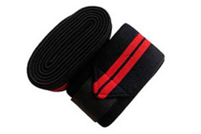 Бинты коленные черные с красным 2 метра (арт 498) Be First