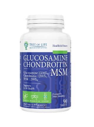 LIFE Glucosamine Chondroitin MSM 90 tab TREE OF LIFE