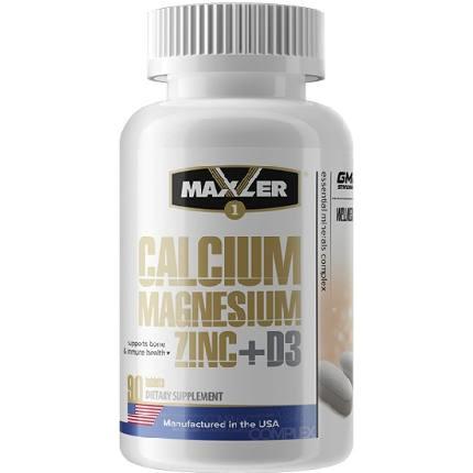 Calcium Zinc Magnesium+D3 90 tabs MAXLER