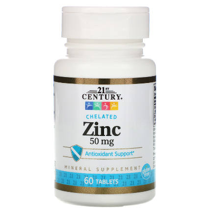 Zinc 50 mg 60 tab 21St Century