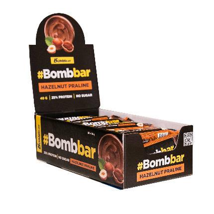 Батончик глазированный 30x40гр BOMBBAR