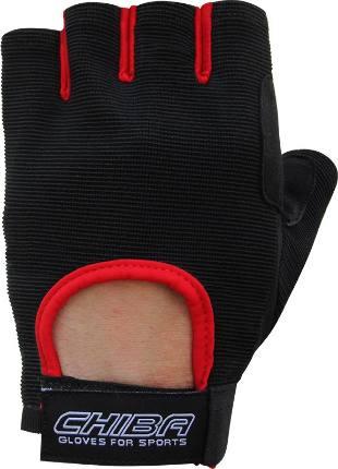 Перчатки Summertime эконом унисекс черный/красный Chiba