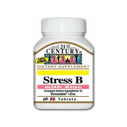 Stress B with Zinc 66 tab 21St Century