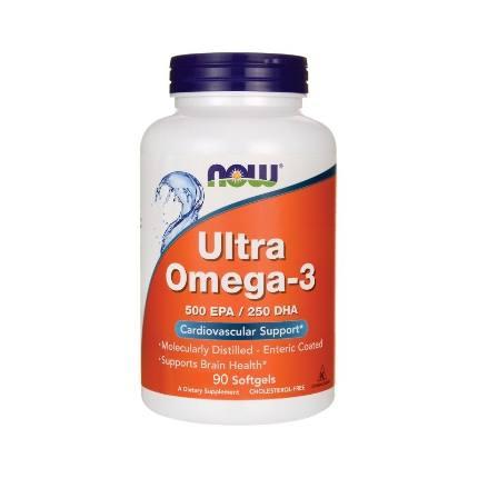 Ultra Omega-3 1000 mg 180 softgels NOW