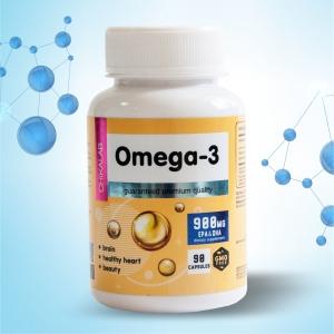 Комплексная пищевая добавка Омега-3 90 капсул CHIKALAB