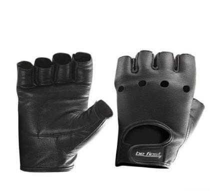 Перчатки кожа черные Be First
