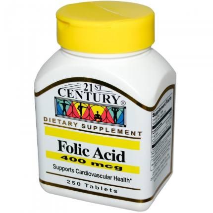 Folic Acid 400 mcg 250 tab 21St Century