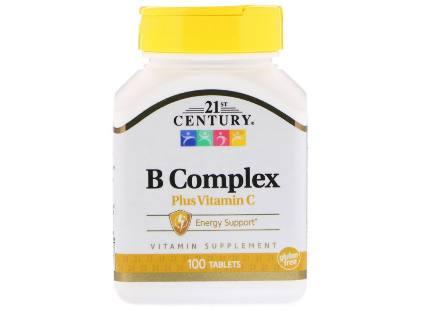 B Complex+Vitamine C 100 tab 21St Century