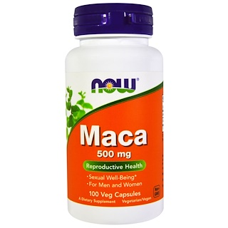 Maca 500 mg 100 caps NOW