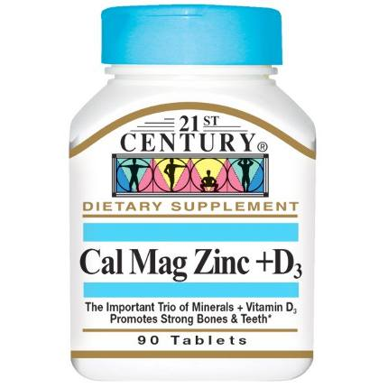 Cal Mag Zinc+D3 90 tab 21St Century