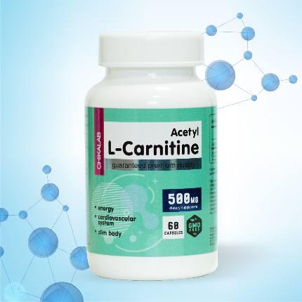 Ацетил L-карнитин 500 мг 60 капсул CHIKALAB