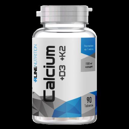Calcium+D3+K2 банка 90 таб RLINE