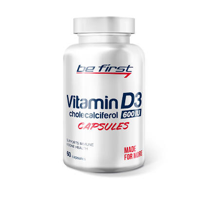 Vitamin D3 60 caps Be First