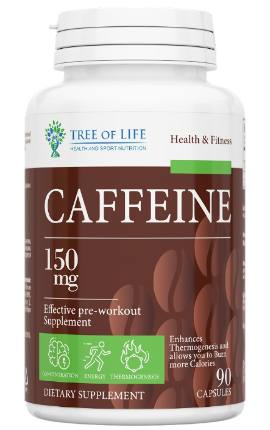 LIFE CAFFEINE 150 mg 90 caps TREE OF LIFE