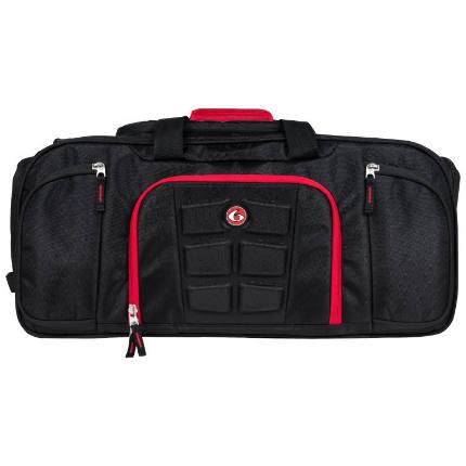 Сумка 6 Pack Fitness Beast Duffle, черный-красный