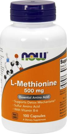 L-Methionine 500 mg 100 caps NOW