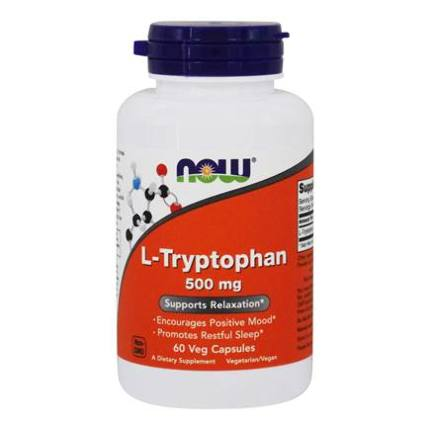 L-Tryptophan 500 mg 60 vcaps NOW