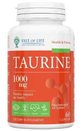 LIFE TAURINE 1000 mg 60 caps TREE OF LIFE