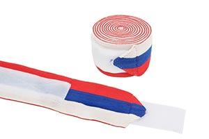 Бинты коленные бело-сине-красные 2 метра (арт 497) Be First