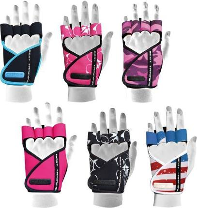 Перчатки женские Chiba Lady Motivation Glove черно-бело-розовый