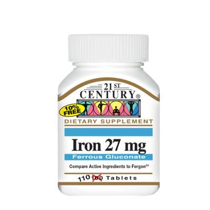 Iron 27 mg 110 tab 21St Century