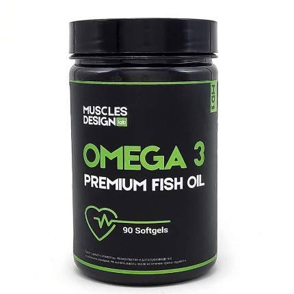 Omega 3 Fish Oil 90 caps Muscles Design Lab